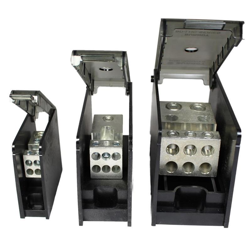 Hubbell Electrical / Burndy BDBLHC225001 Versi-Pole™ Power Distribution Block; 760 Amp, 600 Volt, Aluminum Alloy