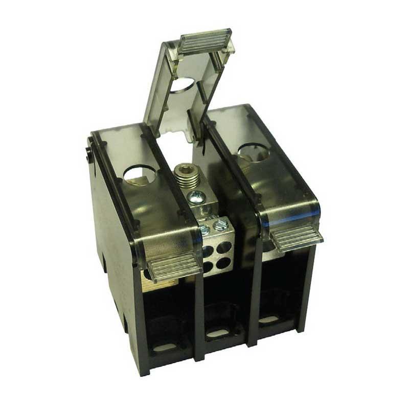 Ferraz Shawmut MPDB67021 Power Distribution Block; 270 Amp, 600 Volt AC/DC, Box To Box Connection, Direct Panel Mount, Stainless Steel, Black