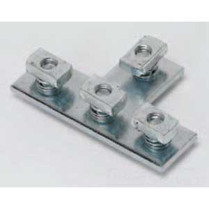 Cooper B-Line B133PAZN Pre-Assembled 4-Hole Tee Plate; Steel, Zinc Electroplated