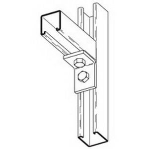 Cooper B-Line B230PAZN Pre-Assembled 2-Hole 90 Degree Corner Angle; Steel, Zinc Electroplated