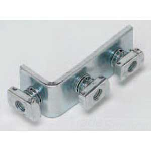 Cooper B-Line B103PAZN Pre-Assembled 3-Hole 90 Degree Corner Angle; Steel, Zinc Electroplated