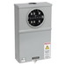 Cooper B-Line 12146 Safety Socket Box; 600 Volt, 20 Amp, 1-Phase, NEMA 3R, Surface Mount, Steel, ANSI 61 Gray Acrylic Electrocoated
