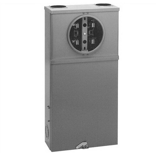 Cooper B-Line 114TB Safety Socket Box; 600 Volt, 100 Amp Continuous, 125 Amp Maximum, 1-Phase, NEMA 3R, Surface Mount, ANSI 61 Gray Acrylic Electrocoated