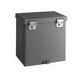 Cooper B-Line 24248RTHC Junction Box; 24 Inch Width x 8 Inch Depth x 24 Inch Height, 14 Gauge Galvanized Steel, ANSI 61 Gray, Wall Mount, Hinge Padlock Hasp Cover