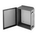 Cooper B-Line 16146-12CHQRC Enclosure; 14 Inch Width x 6 Inch Depth x 16 Inch Height, 16 Gauge Steel, ANSI 61 Gray, Wall Mount, Hinged Cover