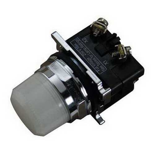 Eaton / Cutler Hammer 10250T34W Watertight/Oiltight Indicating Light 120 Volt AC  Incandescent  White