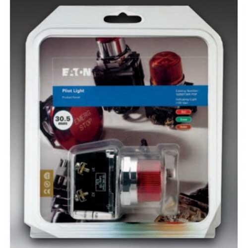 Eaton / Cutler Hammer 10250T476C21-1-POP Illuminated Pushbutton; 24 Volt AC/DC, 1 NO/1 NC, Red