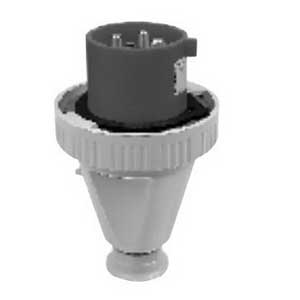 Cooper Crouse-Hinds CH316P4W Splashproof Pin and Sleeve Plug 16 Amp- 110 - 130 Volt- 3-Pole- 2-Wire-