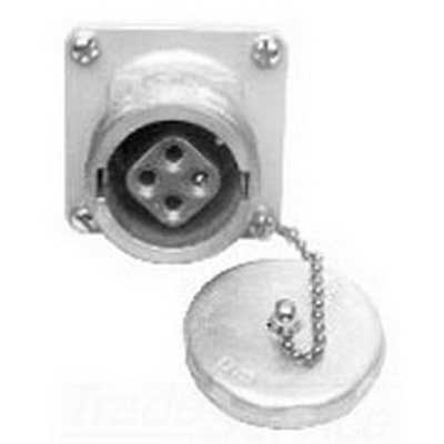 Cooper Crouse-Hinds AR647 Arktite Style 1 Threaded Cap Receptacle Housing 60 Amp  600/250 Volt AC/DC  4-Pole  4-Wire
