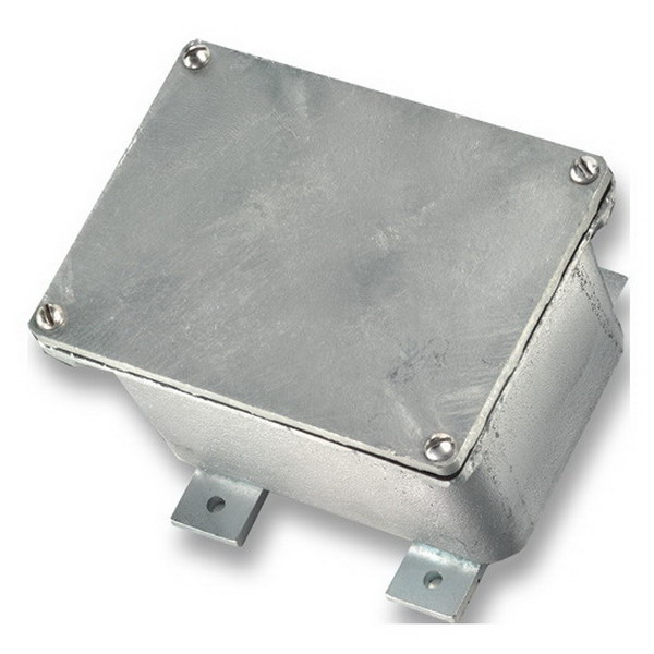Cooper Crouse-Hinds WJB121208 Heavy Duty Junction Box; 12 Inch Width x 8 Inch Depth x 12 Inch Height, Cast-Iron, Surface Mount, Flanged Cover