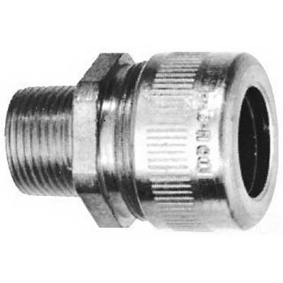 Cooper Crouse-Hinds CGFP195 Non-Armoured Gland Connector 1/2 Inch- 0.5000 - 0.6250 Inch- Turned Steel-