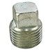 Cooper Crouse-Hinds PLG15 Explosion-Proof Plug With Square Head; 1/2 Inch, Steel, Tapered Thread