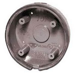 """""Edwards 348 Weatherproof Back Box Rugged Die-Cast Aluminum, Gray, Surface Mount,"""""" 10709"