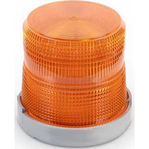 Edwards 96BA-R5 96 Series Light Duty Flashing Xenon Beacon Strobe Light; 240 Volt AC, 0.02 Amp, Amber, 1/2 Inch NPT Conduit Mount