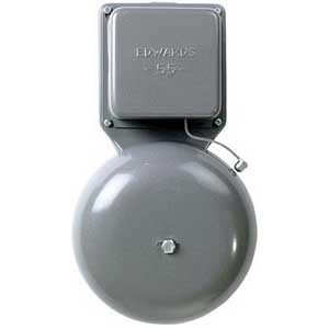Edwards 55-4G5 55 Series General Purpose Vibrating Bell; 4 Inch, 24 Volt AC, 78 DB At 1 m, 68 DB At 10 ft, Gray