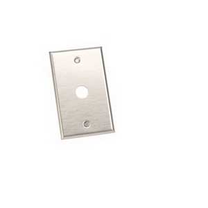 Edwards 147-1 Single Gang Push Button Plate; Stainless Steel