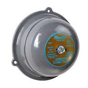 """""Edwards 156G-4AM 156G Series Vibrating Bell 4 Inch, 8 - 10 Volt AC/ 6 - 8 Volt DC, 86 DB At 1 m, 76 DB At 10 ft, Gray,"""""" 51251"