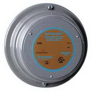 """""Edwards 340A-N5 340A Series Round Vibrating Buzzer 120 Volt AC, 80 DB At 1 m, 70 DB At 10 ft, Gray,"""""" 59789"
