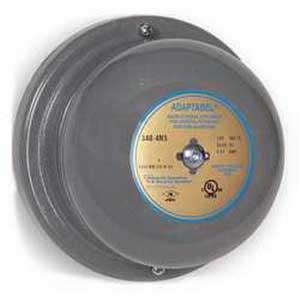"""""""""""Edwards 340-4G5 340 Series Vibrating Bell 4 Inch, 24 Volt AC, 98 DB At 1 m, 88 DB At 10 ft, Gray,"""""""""""" 6346"""