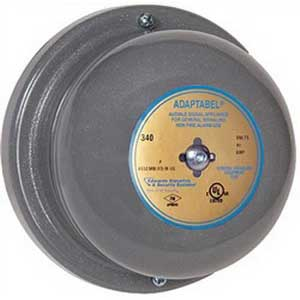 """""""""""Edwards 340-10N5 340 Series Vibrating Bell 10 Inch, 120 Volt AC, 106 DB At 1 m, 96 DB At 10 ft, Gray,"""""""""""" 6359"""