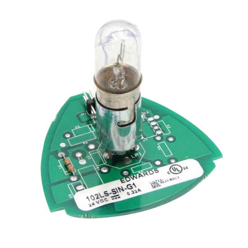 """""Edwards 102LS-SIN-G1 102 Series Steady-On Incandescent Stack Light 24 Volt DC, 0.32 Amp, Panel/Conduit Mount,"""""" 63712"