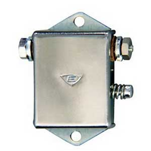 """""Edwards 15-1G5 Lungen 15 Series Rectangular Miniature Buzzer 24 Volt AC, 78 DB At 1 m, 68 DB At 10 ft, Silver,"""""" 69010"