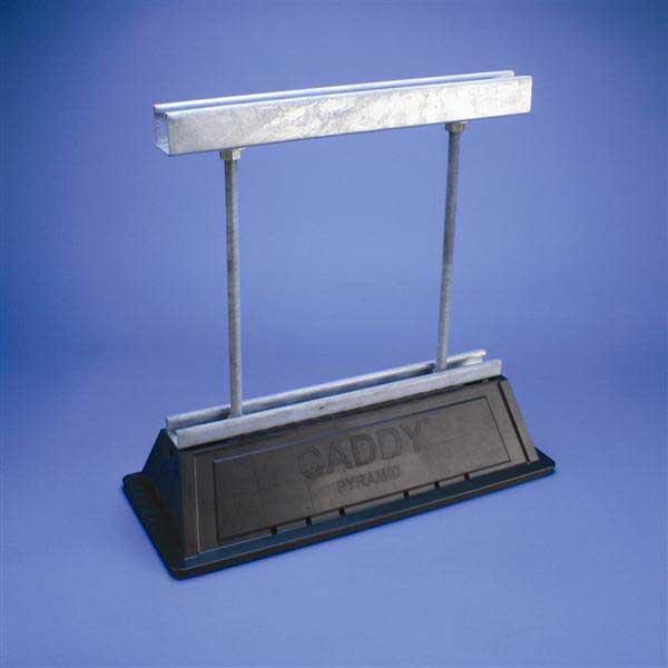 Erico PSA16AH18 Pyramid ST Adjustable Strut Support; Polyethylene/Polypropylene/Steel, Hot-Dipped Galvanized