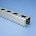 Erico A14H1000GN Strut Channel; 14 Gauge, 10 ft x 1-5/8 Inch x 1-5/8 Inch, 1-1/8 Inch x 9/16 Inch Slot Size, Half Slot, Steel, Painted