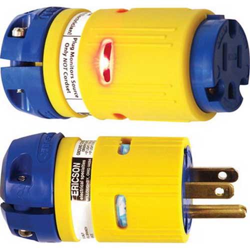 Ericson 1510-PML Perma-Link® Straight Blade Plug; 2-Pole, 3-Wire, 15 Amp, 125 Volt, NEMA 5-15