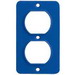 Ericson 6031 GFCI Cover Plate; 1-Duplex Receptacle, High Impact Weather Nylon, Blue