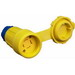 Ericson 2412-CW6P Perma-Kleen™ Locking Connector; 2-Pole, 3-Wire, 20 Amp, 250 Volt, NEMA L6-20, Yellow/Blue