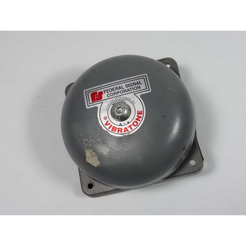 """""Federal Signal 504WB-120 Vibratone Bell Assembly 120 Volt AC, 98 DB At 10 ft, Gray,"""""" 105941"
