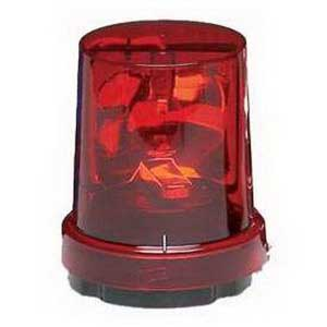 Federal Signal 121S-120R Vitalite® Rotating Incandescent Warning Light; 120 Volt AC, 0.36 Amp, Red, 1/2 Inch NPT Pipe/Surface Mount