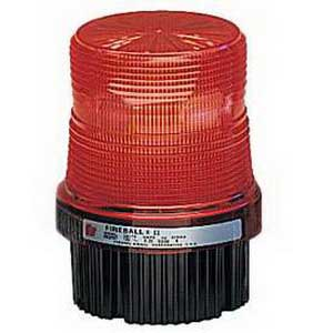 Federal Signal FB2PST-120R Fireball® Strobe Warning Light; 120 Volt AC, 0.25 Amp, Red, 1/2 Inch NPT Pipe/Surface Mount
