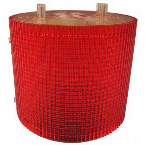 Federal Signal LSL-120R Litestak® LSL Series Flashing Steady Incandescent Status Indicator Light; 120 Volt AC, 0.13 Amp, 2 Inch Surface Mount, Polycarbonate Lens, Red