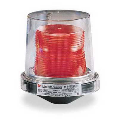 Federal Signal 225XST-120R Electraray® Strobe Warning Light; 120 Volt AC, 0.25 Amp, Red, 1/2 Inch Pipe Mount