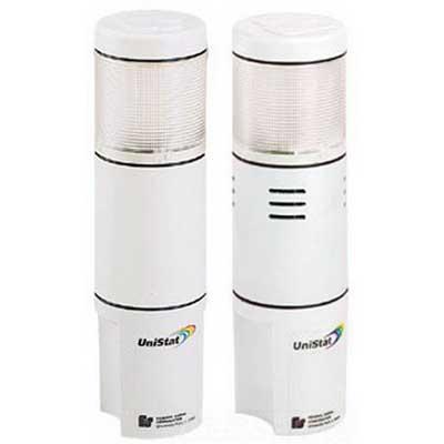 Federal Signal USI-024TC UniStat® Quad-Color Stack Light; 24 Volt AC/DC, 0.2 Amp, Clear