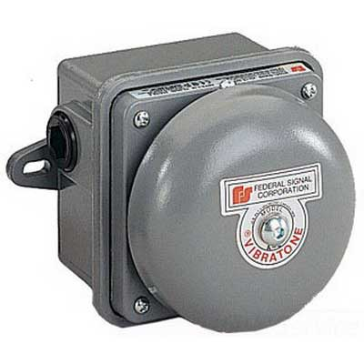 """""Federal Signal 506WB-120 Vibratone Bell Assembly 120 Volt AC, 100 DB At 10 ft, Gray,"""""" 48026"
