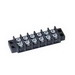 Ideal 89-206 One Piece Terminal Strip; 600 Volt, 30 Amp, 6 Pole, 6 Position, Thermoplastic, Black, Surface