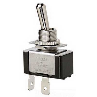 Ideal 774093 Standard Heavy Duty Toggle Switch 1-Pole  SPST  3/4 Amp  125/250 Volt  Nickel Plated