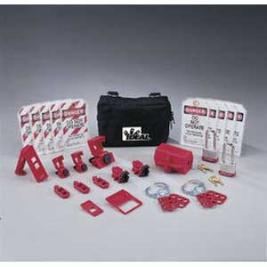 Ideal 44-971 Standard Lockout/Tagout Kit; Nylon Zipper