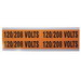 Ideal 44-296 Medium Voltage and Conduit Marker Card; Plastic-Impregnated Cloth, Black On Bright Orange