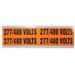 Ideal 44-299 Medium Voltage and Conduit Marker Card; Plastic-Impregnated Cloth, Black On Bright Orange