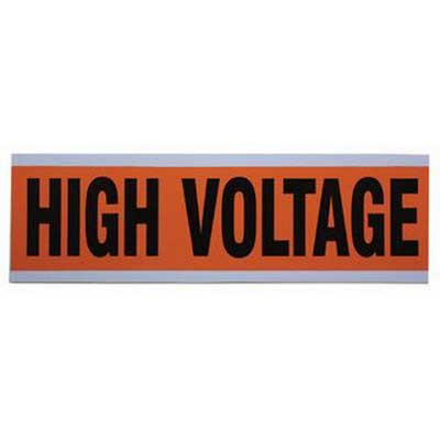 Ideal 44-292 Large Voltage and Conduit Marker Card; Plastic-Impregnated Cloth, Black On Bright Orange