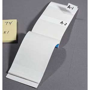 Ideal 44-151 Write-on Wire Marker Book; Plastic-Impregnated Cloth, Black On White