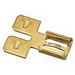 Ideal 83-9801 Non-Insulated Male to Female Disconnect Adapter; 300 Volt, Brass