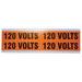 Ideal 44-353 Medium Voltage and Conduit Marker Card; Plastic-Impregnated Cloth, Black On Bright Orange