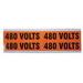 Ideal 44-364 Medium Voltage and Conduit Marker Card; Plastic-Impregnated Cloth, Black On Bright Orange