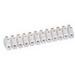 Ideal 89-608 One Piece Barrier Strip; 300 Volt (UL), 400 Volt (CSA), 20 Amp (UL), 10 Amp (CSA), 12 Pole, Nylon 66 Plastic