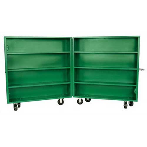 Greenlee 5860 Bi Fold Box; 60.000 Overall Width x 15.000 Overall Depth x 14.500 Overall Height, 60.4 Cubic-ft, Steel, Green